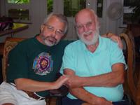 John Welshons with Ram Dass