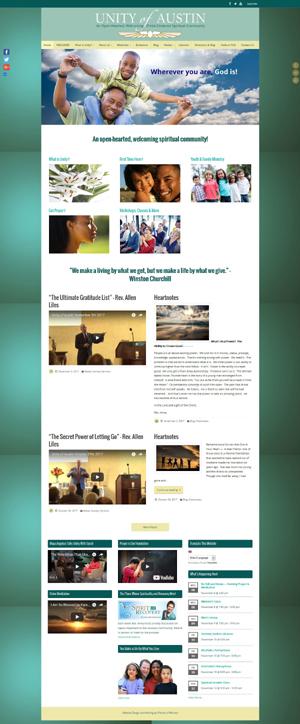 Unity of Austin church website design