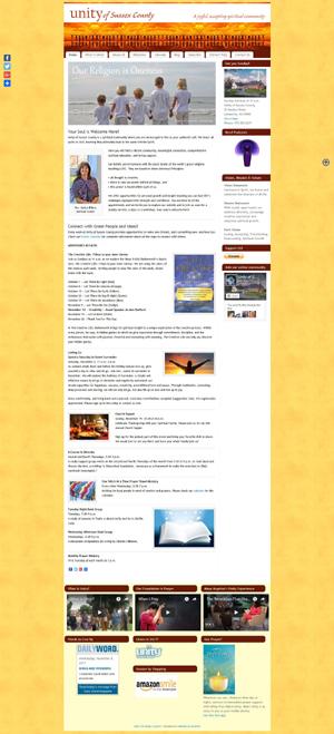 Unity of Sussex church website design