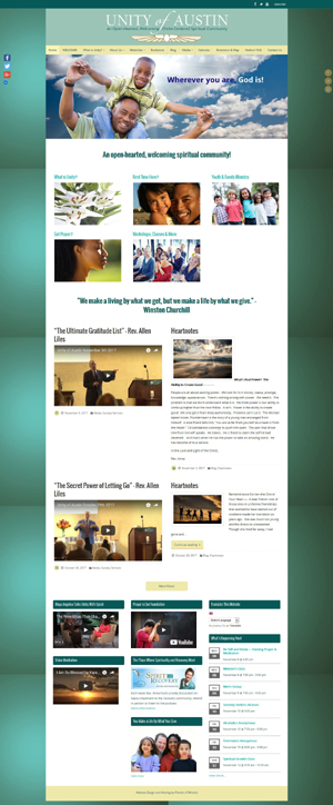 Unity of Austin church website design