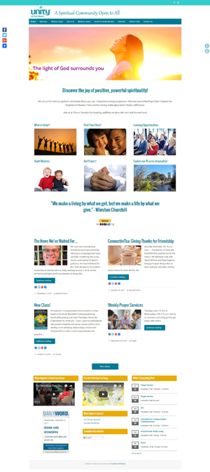 Unity of Fort Myers church website design